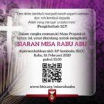 Siaran Misa Rabu Abu 2020