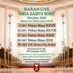 Misa Hari Minggu Pekan Biasa ke-29 dalam Pekan Biasa – Sabtu, 17 Oktober 2020 (Misa Sabtu sore)