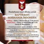 Kelas Persiapan Baptis Bayi Berbahasa Indonesia – November 2020