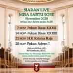 Misa Hari Raya Kristus Raja – Sabtu, 21 November 2020 (Misa Sabtu sore)