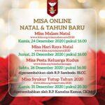 Misa Online KKIS Natal 2020 dan Tahun Baru 2021