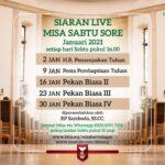 Misa Hari Raya Penampakan Tuhan – Sabtu, 2 Januari 2021, (Misa Sabtu Sore)