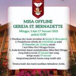Misa offline Gereja St. Bernadette – Januari 2021